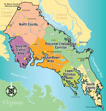 map of maryland with cities interactive map st s county md tourism