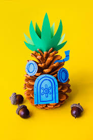 make a spongebob pineapple pine cone spongebob pine cone and pine