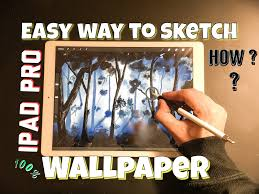 how to draw wallpaper on ipad pro using apple pencil easy way