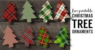 plaid christmas plaid christmas tree ornaments printable paper trail design