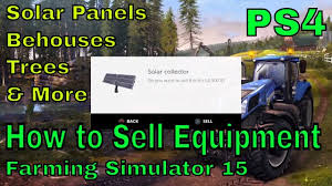 how to sell equipment solar panels behives trees farming