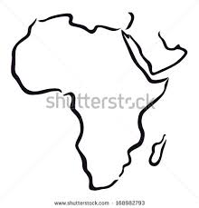 africa map drawing doodle drawing africa continent stock vector 272937065