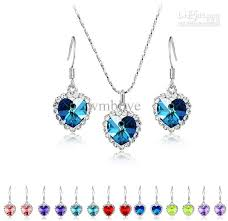 swarovski crystal necklace earrings images Wholesale the heart of ocean swarovski crystal necklace and jpg