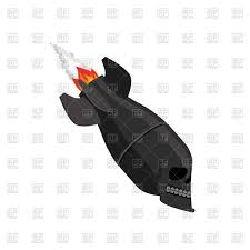 scary halloween white background scary air bomb on white background rocket vector image 158761