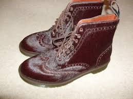 boots hair dr martens size uk 8 bertie itaian hair on leather uppers