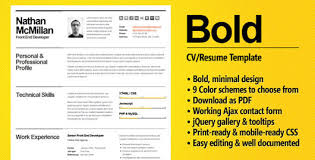 Bold Resume Template by 35 Best Cv Resume Templates Web Graphic Design Bashooka