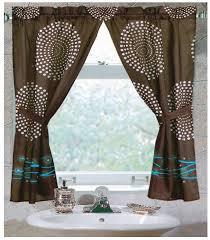 interesting small bathroom window curtains and bathroom window