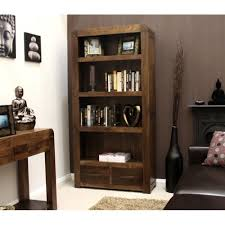 Dark Wood Bookshelves by Bookshelf With Drawers On Bottom Bookshelf Fascinating Bookcase