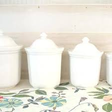 kitchen canisters white white ceramic kitchen canisters mainstays 4pc ceramic canister set