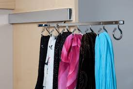stainless steel hooks for organizing scarves in small closet