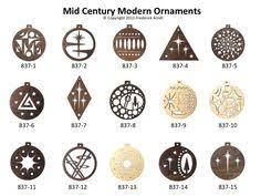 mid century modern ornaments frederick arndt artworks