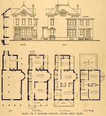 victorian house blueprints vintage victorian house plans 1879 print victorian house