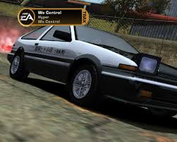 toyota ae86 corolla toyota corolla gts ae86 need for speed most wanted skin mods