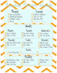 printable evening schedule free printable weekly cleaning schedule homemade all natural
