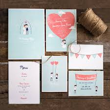 retro style character wedding stationery by the lovely drawer