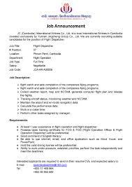 sample dispatcher resume dispatcher job description resume resume for your job application job announcement jc airlines jc international like liked unlikejob announcement jc airlines resume for dispatcher