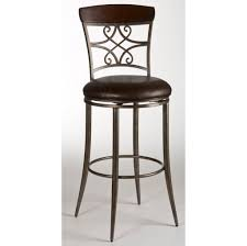Black Bar Stools With Back Furniture Graceful Black Metal Swivel Bar Stool With Back Best