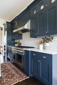 blue kitchen cabinet design some may find it to use blue as kitchen color