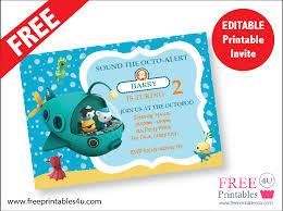 free octonauts invite freeprintables4u octonauts