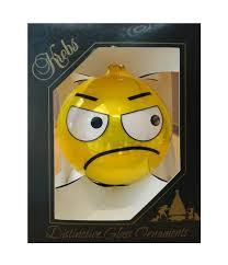newseum store emoji grumpy ornament