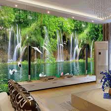 Bedroom Water Feature Online Shop Custom Mural Wallpaper Tv Bedroom Wall Natural Small