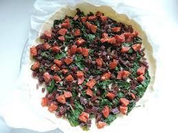 cuisiner les feuilles de betteraves rouges tarte aux fanes de betteraves rouges chignons et chorizo la