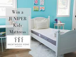 win a juniper kids mattress from brentwood home 349 value