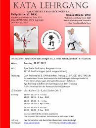 Bad S Karate Event De Kata Lehrgang Mit Jüttner Bleul In Bad Säckingen