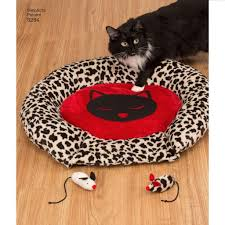 Cat Bed Pattern Sewing Pattern Holiday Stockings Tree Skirt Throw Cat Bed U0026 Toy 8284