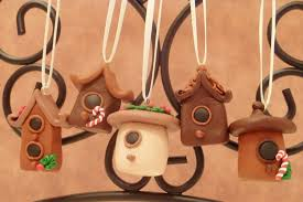 miniature bird house house ornament set by flyingfrogcreations