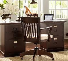 Espresso Office Desk Bedford Rectangular Desk Pottery Barn