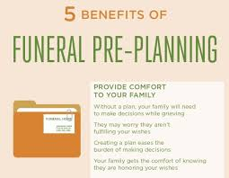 how to plan a funeral 5 benefits of funeral pre planning infographic infographics