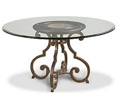 Glass Top Pedestal Dining Tables Glass Top 48