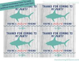 shark birthday party unique decorations games invitations