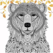 color bear menagerie free coloring