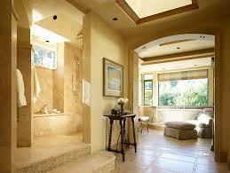 mediterranean doorless shower designs bathroom mediterranean with