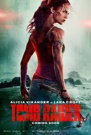 the new tomb raider poster featuring alicia vikander