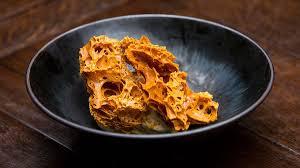 creme fraiche cuisine honeycomb with creme fraiche