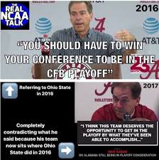 Nick Saban Memes - nick saban meme about alabama ohio state cfp playoff scorching