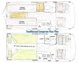 Sprinter 5th Wheel Floor Plans 24theroad Campervan Floor Plan Vans Campers Pinterest