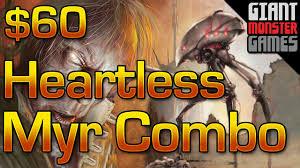budget modern deck heartless myr combo 60 youtube