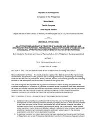 Counseling Code Of Ethics Philippines Ra 9258 Licensure Counselor