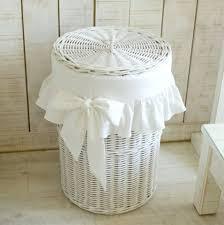 white shabby chic laundry bin shabby chic laundry basket white