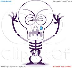 halloween skeleton images clipart of a sad halloween skeleton crying royalty free vector