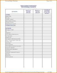 Remodel Budget Spreadsheet by Basic Budget Template Thebridgesummit Co