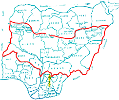 Nigeria State Map by Biafra Middle Belt Not North Youth President Daily Post Nigeria