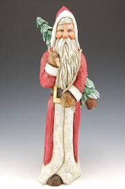 world santa with tree santa claus figurines and carved