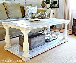 Painted Wood Coffee Table Restoration Hardware Knock Off Salvaged Wood Balustrade Coffee