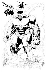 the incredible hulk convention print line art by cheelee on deviantart