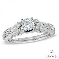 Vera Wang Wedding Rings by Vera Wang Love Collection 1 Ct T W Diamond Engagement Ring In